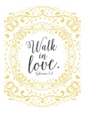Walk in Love Giclee Print by Emily Burger