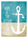 Hope is the Anchor Giclee Print by Cheryl Overton