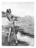 Beach Bathing Beauty 2 Giclee Print by  Underwood