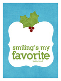 Smiling's my Favorite Giclee Print by Cheryl Overton