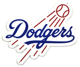 Los Angeles Dodgers Lasercut Steel Logo Sign Wall Sign