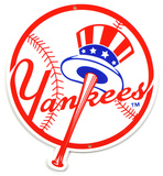 New York Yankees Top Hat Lasercut Steel Logo Sign Wall Sign