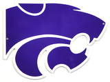 Kansas State Lasercut Steel Logo Sign Wall Sign