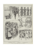 Sketches of the Socialist Meeting in Trafalgar-Square on Sunday Giclee Print