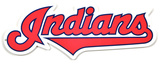 Cleveland Indians Script Lasercut Steel Logo Sign Wall Sign