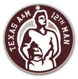 Texas A&M Aggies 12Th Man Steel Magnet Magnet