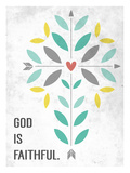God is Faithful Giclee Print by Emily Burger