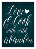 Love & Cook - Blue Giclee Print by Cheryl Overton