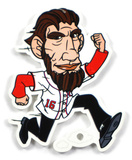 Washington Nationals Running President Lincoln Steel Magnet Magnet