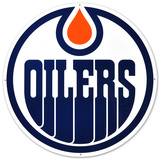 Edmonton Oilers Lasercut Steel Logo Sign Wall Sign