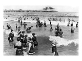 Coney Island Beach Goers Giclee Print by  Underwood