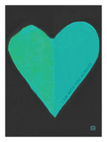 Turquoise Heart Giclee Print by Lisa Weedn