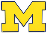 Michigan Wolverines Lasercut Steel Logo Sign Wall Sign