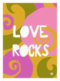 Love rocks Giclee Print by Lisa Weedn