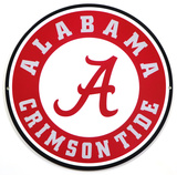 Alabama Crimson Tide Lasercut Steel Logo Sign Wall Sign