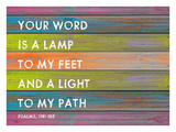 Your Word is a Lamp Giclee Print by Lisa Weedn