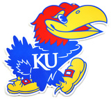 Kansas Jayhawks Lasercut Steel Logo Sign Wall Sign