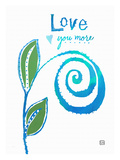 Love you more Giclee Print by Lisa Weedn