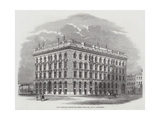 New Warehouses Erected for Messers Brown, Son, and Company, Manchester Giclee Print