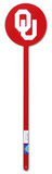 Oklahoma Sooners Ou Red Steel Garden Stake Novelty