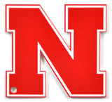 Nebraska Huskers Block N Steel Magnet Magnet