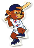Chicago Cubs Clark Mascot Batting Steel Magnet Magnet