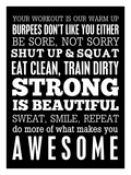 Fitness Motivation Giclee Print by Cheryl Overton