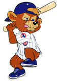 Chicago Cubs Clark Mascot Batting Steel Logo Sign Wall Sign