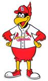 St. Louis Cardinals Fredbird Lasercut Steel Logo Sign Wall Sign