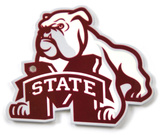 Mississippi State Bulldogs Dog Over M Steel Magnet Magnet