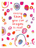 Everything you can imagine Lámina giclée por Lisa Weedn
