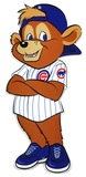 Chicago Cubs Clark Mascot Standing Steel Logo Sign Wall Sign