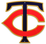 Minnesota Twins Tc Lasercut Steel Logo Sign Wall Sign