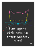 Time spent with cats Giclee Print by Lisa Weedn