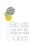 Be Still and Know that I am God Giclee Print by Emily Burger