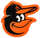 Baltimore Orioles Bird Head Lasercut Steel Logo Sign Wall Sign