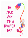 On your way to a brighter day Giclee Print by Lisa Weedn