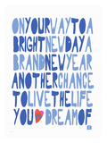 On your Way to a bright Day Giclee Print by Lisa Weedn