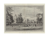 The Great Schools of England, Rugby School, from the Close Reproduction procédé giclée