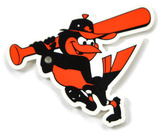 Baltimore Orioles Swinging Bird Steel Magnet Magnet