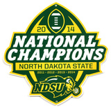 Ndsu 2014 Champs Lasercut Steel Logo Sign Wall Sign