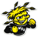 Wichita State Lasercut Steel Logo Sign Wall Sign