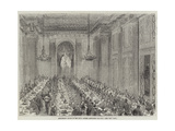 Anniversary Dinner of the Royal Masonic Institution for Boys Giclee Print