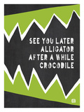 See you later Alligator Giclee Print by Lisa Weedn