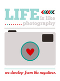 Life is Like Photography Giclee Print by Cheryl Overton