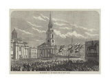 The Thanksgiving Day, the Procession Passing St Martin's Church Giclee Print
