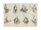 Sketches at the Conversazione of the Royal Society, 8 May Giclee Print