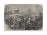 Winter Amusements, the Ladies' Mile in Battersea Park Giclee Print