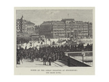 Scene of the Great Disaster at Stockholm, the Grand Hotel Giclee Print