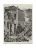 Fall of a Factory Chimney at Cleckheaton, Near Bradford, Yorkshire Giclee Print